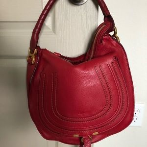 NWT Chloe Marcie hobo RED